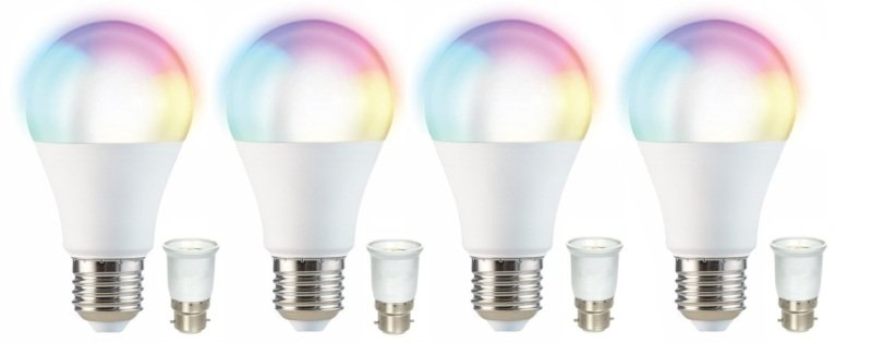 Smart RGB Wi-Fi LED Bulb Quad Pack - Works with Alexa and Google Assistant