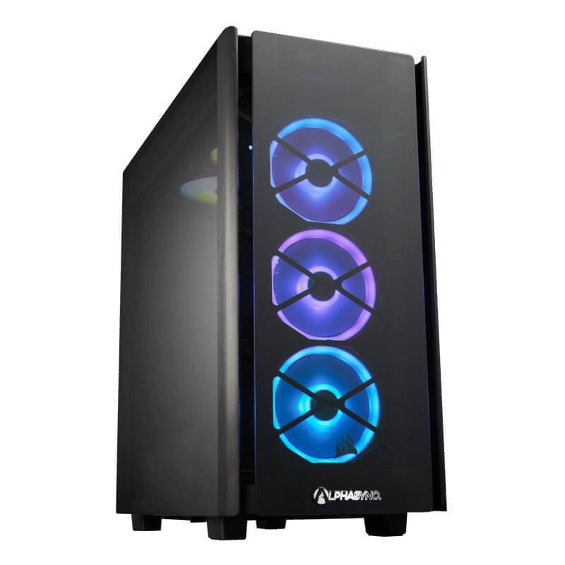 Image of AlphaSync Gaming Desktop PC, Intel Core i9-10850K 3.6GHz, 32GB DDR4 RAM, 4TB HDD, 1TB SSD M.2 NVMe, NVIDIA GeForce RTX 3090, H150i RGB Platinum, HX850, WiFi-6, Windows 10 Home
