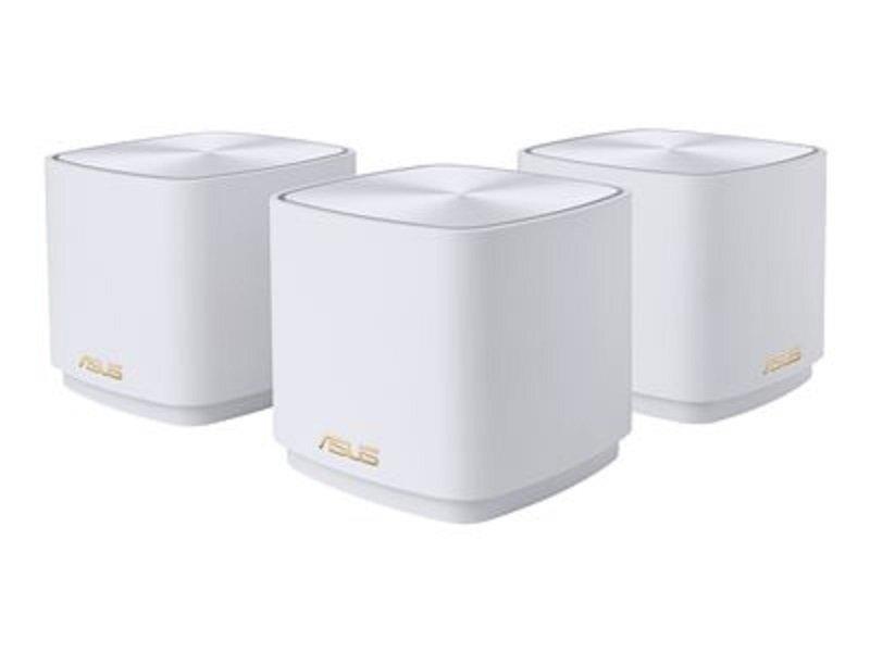 ASUS ZenWiFi AX Mini (XD4) Wi-Fi System - Mesh - 2.4 GHz / 5 GHz - Gigabit Ethernet -White 3PACK