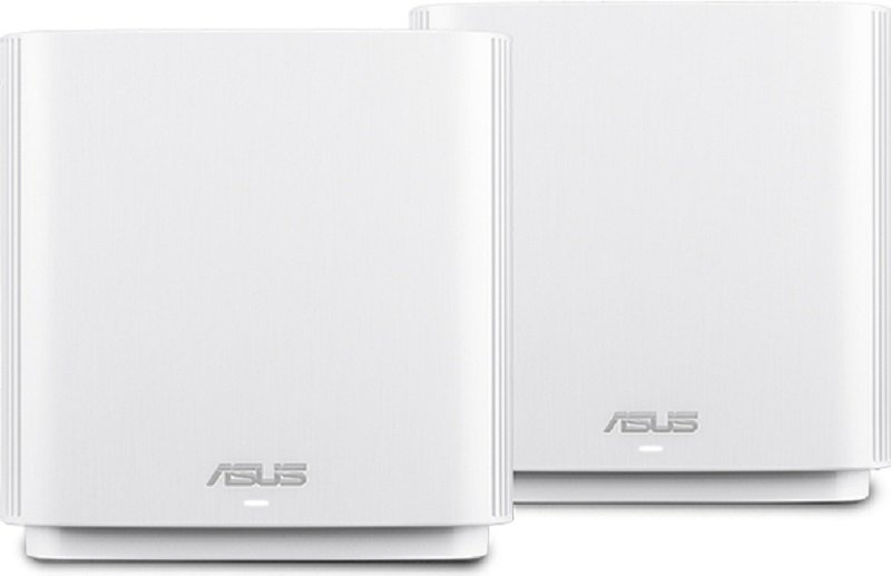ASUS ZenWiFi AC (CT8) Wireless Router Tri-band(2.4 GHz / 5 GHz / 5 GHz)Gigabit Ethernet -White 2PACK