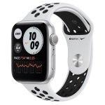 Apple Watch Nike Series 6 GPS, 40mm Silver Aluminium Case with Pure Platinum/Black Nike Sport Band - Regular