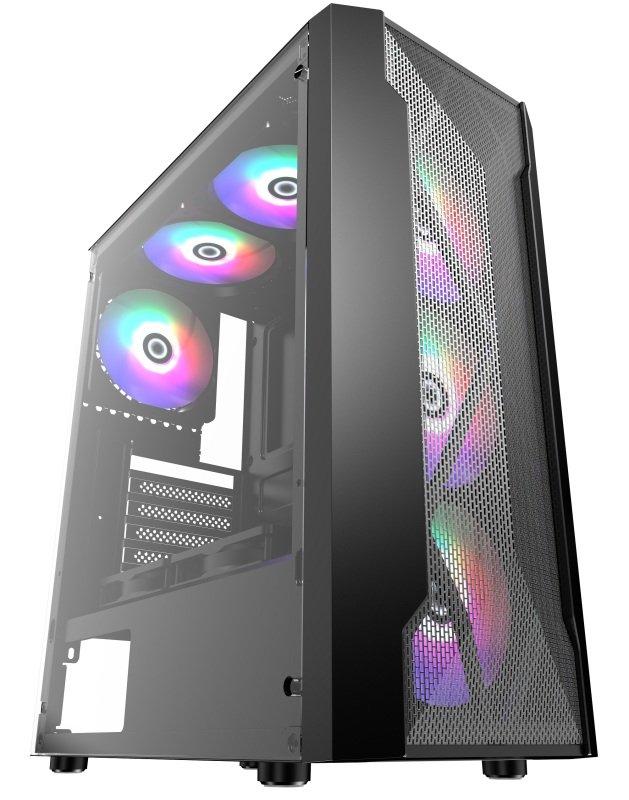 AvP Quasar Mid Tower Case 3 x RGB Fans