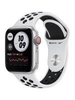 Apple Watch Nike Series 6 GPS + Cellular, 40mm Silver Aluminium Case with Pure Platinum/Black Nike Sport Band - Regular