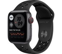 Apple Watch Nike Series 6 GPS + Cellular, 40mm Space Gray Aluminium Case with Anthracite/Black Nike Sport Band - Regular
