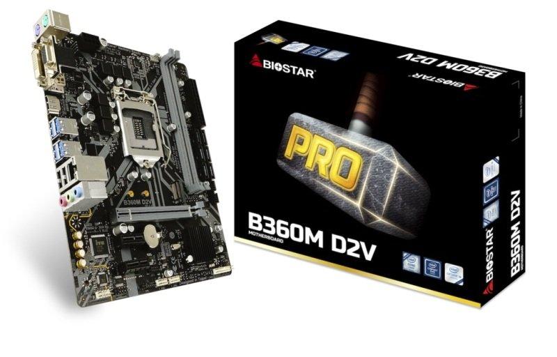 Biostar B360M D2V 1151 mATX Motherboard