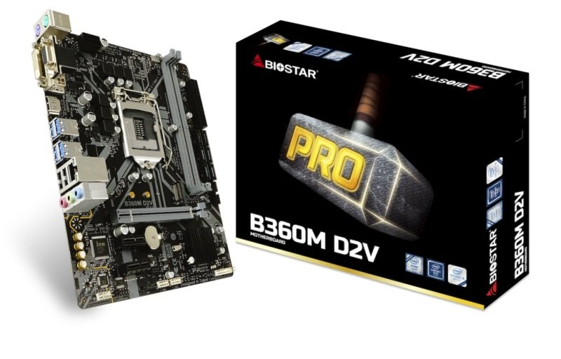 Image of Biostar B360M D2V 1151 mATX Motherboard
