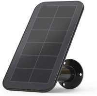 Arlo VMA5600 Accessory Solar Panel Charger, Weather Resistant, 8 ft Magnetic Power Cable, Adjustable Mount, Compatible with Arlo Ultra and Pro3 Only, (Official) - Black