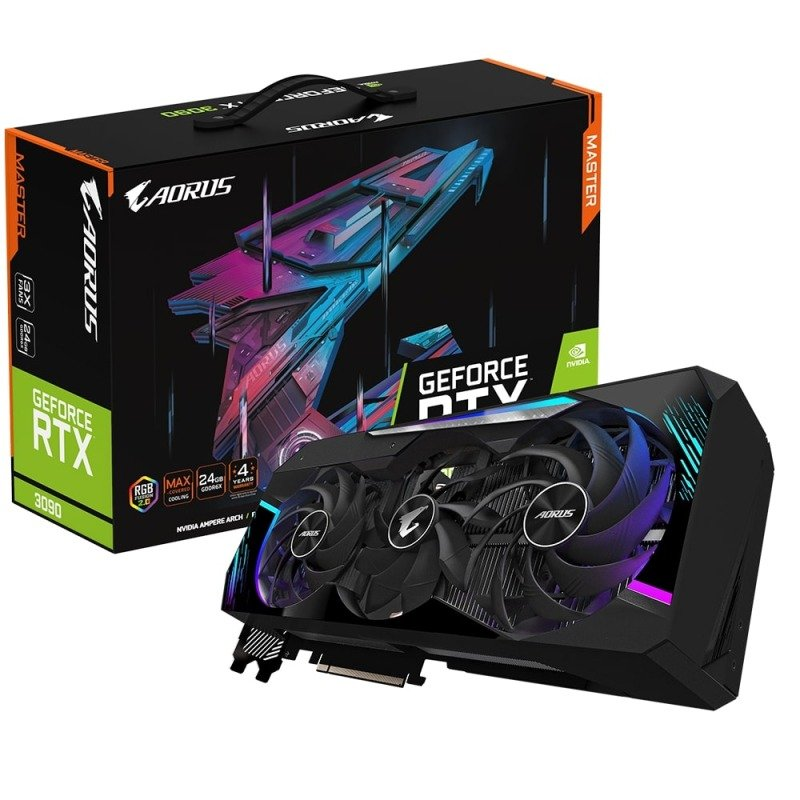 Gigabyte GeForce RTX 3090 24GB GDDR6X AORUS MASTER Ampere Graphics Card