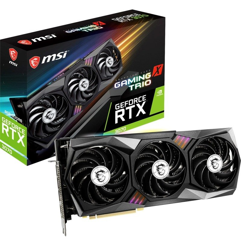 MSI GeForce RTX 3070 8GB GAMING X TRIO Ampere Graphics Card