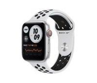 Apple Watch Nike Series 6 GPS + Cellular, 44mm Silver Aluminium Case with Pure Platinum/Black Nike Sport Band - Regular