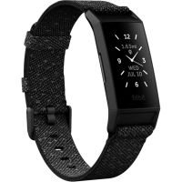 Fitbit Charge 4 - Special Edition - black - activity tracker with band - polyester - granite reflective - band size up to 245 mm - monochrome - Bluetooth - 20 g
