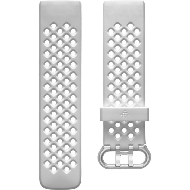 Fitbit Sport Band - Watch strap for smart watch - Large - frost white - for Fitbit Charge 4