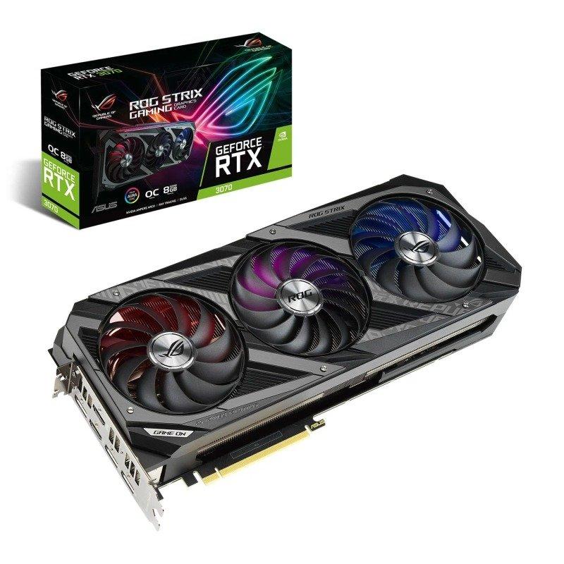 Asus GeForce RTX 3070 8GB ROG STRIX OC Ampere Graphics Card