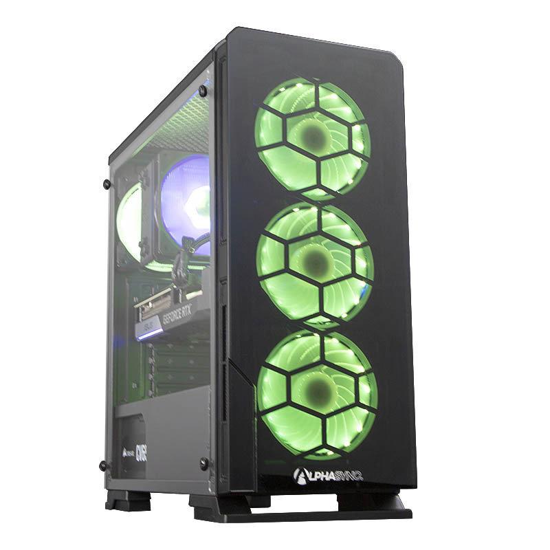 AlphaSync Dual RTX 3070 AMD Ryzen 7 16GB RAM 1TB HDD 480GB SSD Gaming Desktop PC