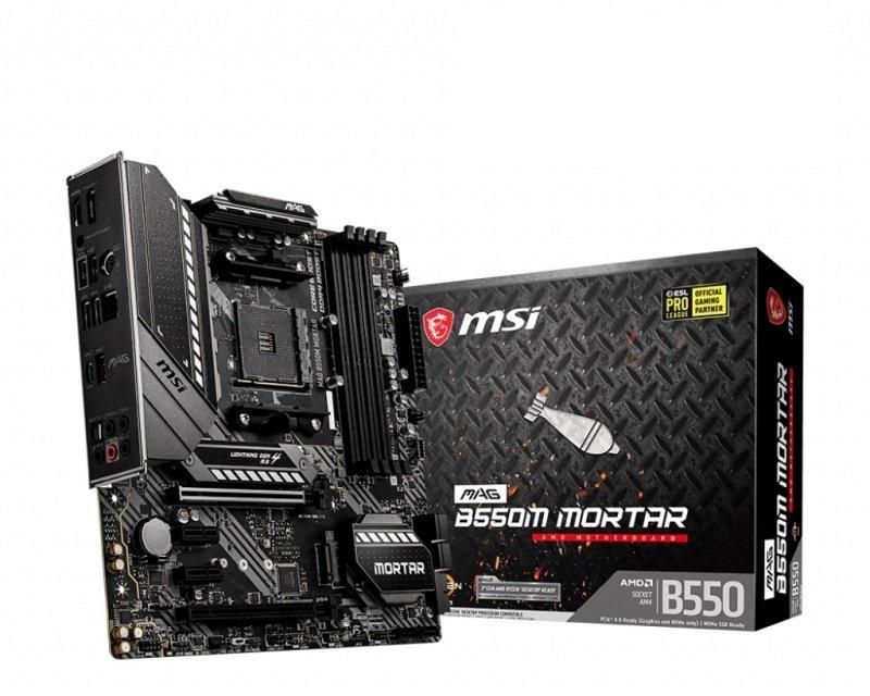 EXDISPLAY MSI MAG B550M MORTAR DDR4 mATX Motherboard