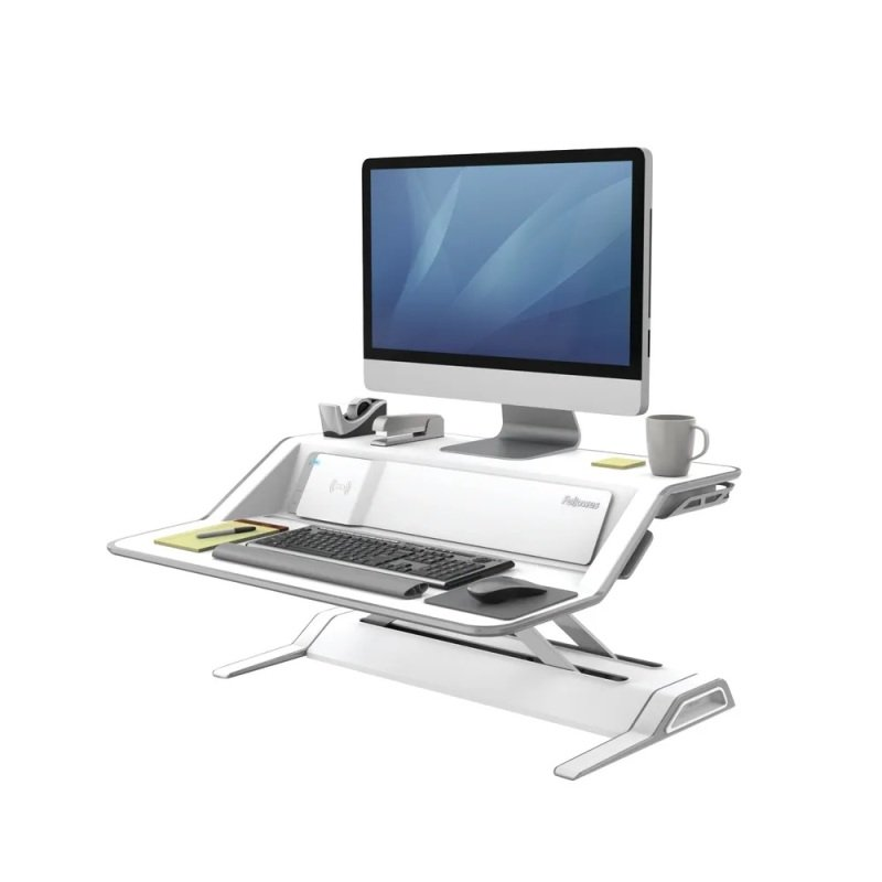 Fellowes Lotus Dx Sit-stand Workstation White