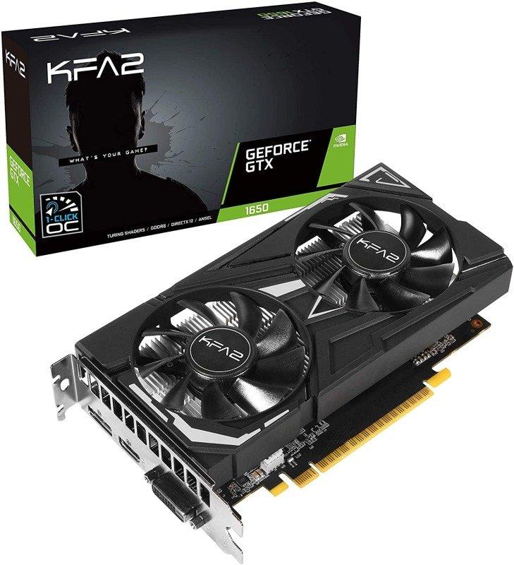 Image of KFA2 GeForce GTX 1650 EX PLUS 4GB OC DDR6 Graphics Card