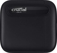 Crucial CT1000X6SSD9 1TB X6 Portable SSD, Up to 540 MB/s, USB 3.2, USB-C