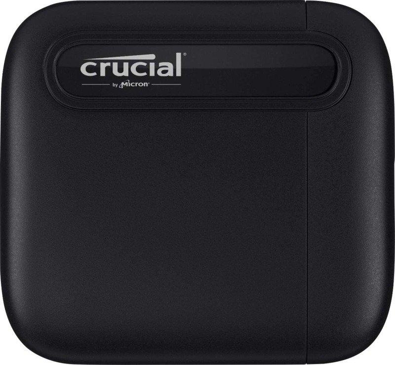 Crucial CT1000X6SSD9 1TB X6 Portable SSD, Up to 540 MB/s, USB 3.2, USB-C