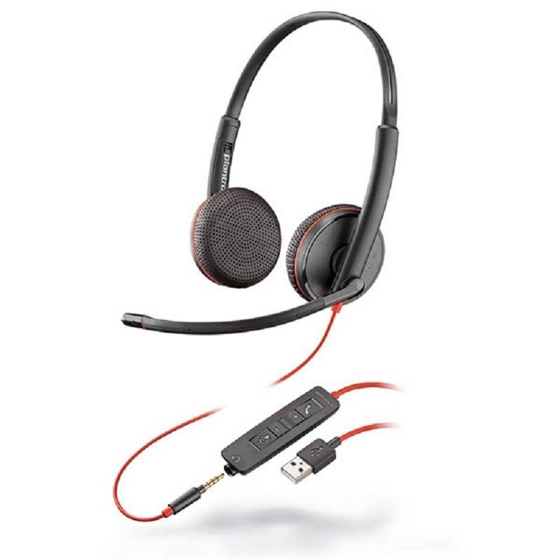 Plantronics Blackwire C3225 USB & 3.5mm PC Headset