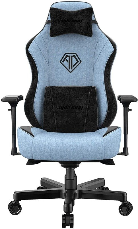 Image of Anda Seat T-Pro Edition Pro Gaming Chair Blue and Black - Premium Office Chair with Lumbar Back Support