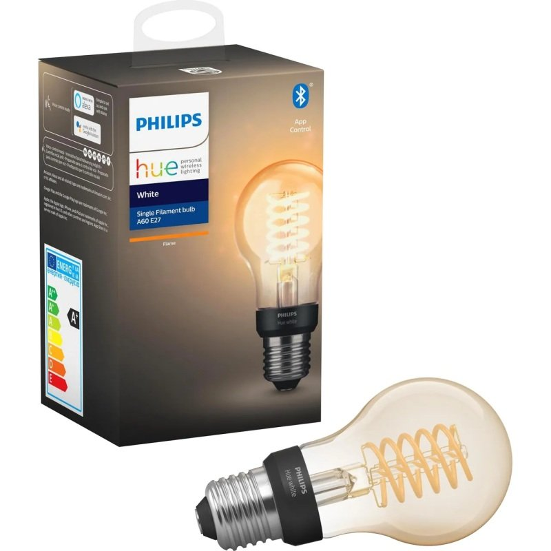 Philips Hue Bluetooth Filament White E27 Smart Bulb - Works with Alexa and Google Assistant*