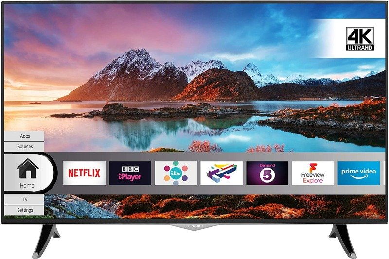 "Finlux 65"" 4K Ultra HD Smart HDR TV with Freeview Play"