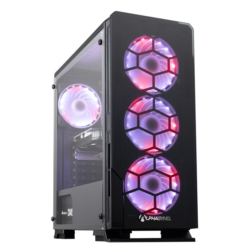 AlphaSync Ryzen 5 8GB RAM 1TB HDD 480GB SSD GTX 1050Ti Gaming Desktop PC
