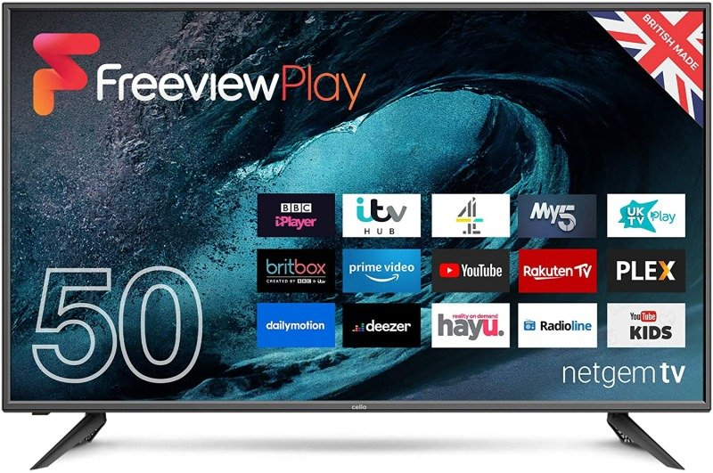 """Cello C50FVP 50"""" Full HD Smart LED TV with Freeview Play and Alexa"""