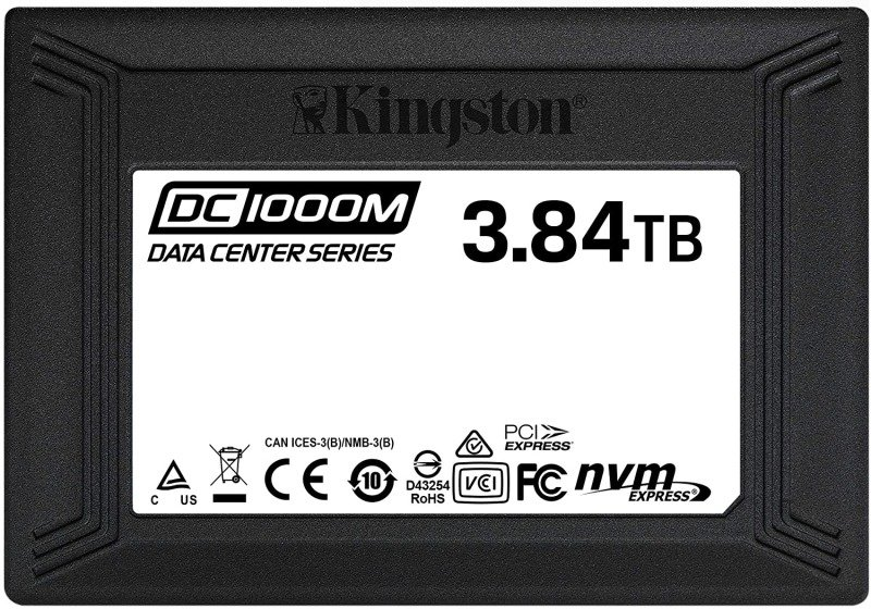 Kingston SSD Data Center DC1000M- SEDC1000M/3840G,U.2 NVMe U.2, 2.5 Inch x 15 mm