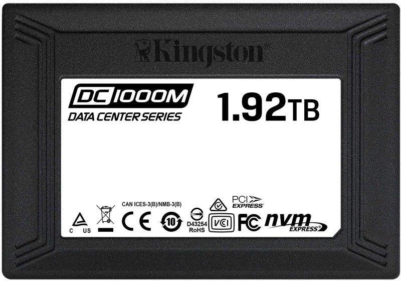Kingston SSD Data Center DC1000M- SEDC1000M/1920G,U.2 NVMe U.2, 2.5 Inch x 15 mm