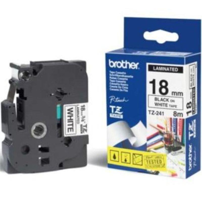 Brother TZe241 Laminated adhesive tape- Black on White
