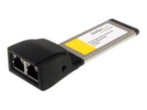 StarTech.com Dual Port ExpressCard Gigabit Laptop Ethernet NIC Network Adapter Card