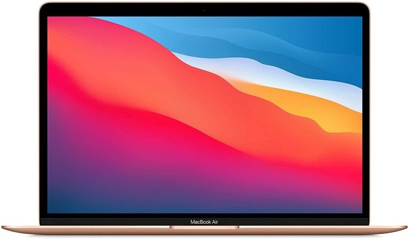 """Image of Apple MacBook Air M1 Chip 8GB 256GB SSD 13.3"""" Laptop - Gold"""