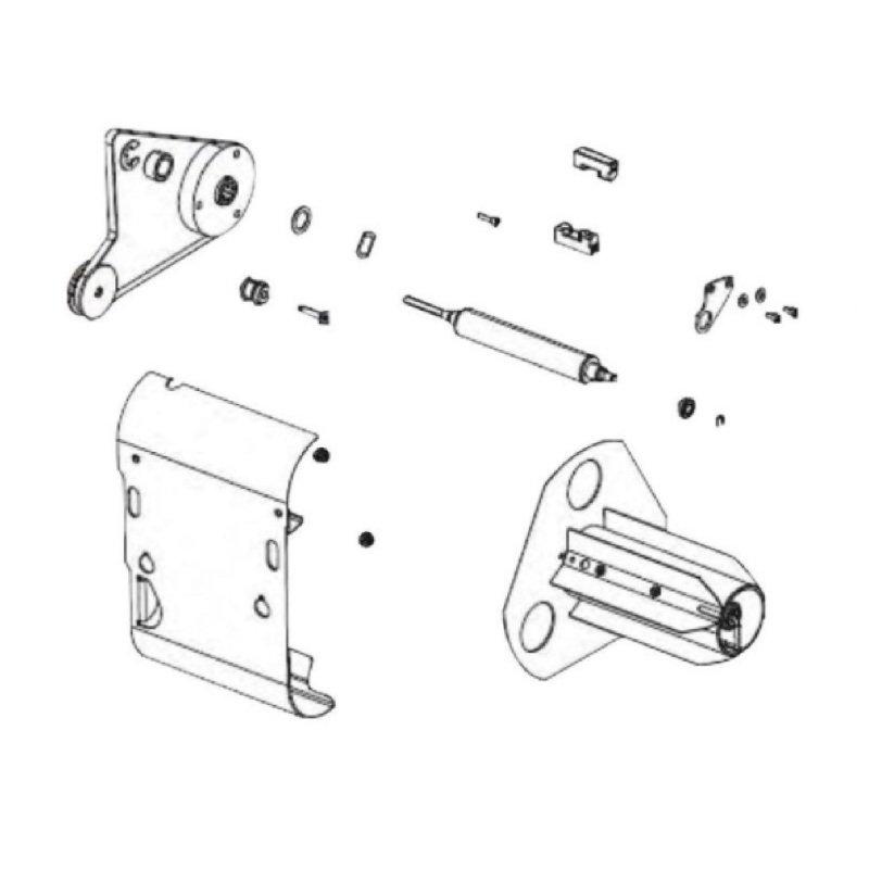 Media Rewind Spindle Kit - Enables Rewind And Peel Off