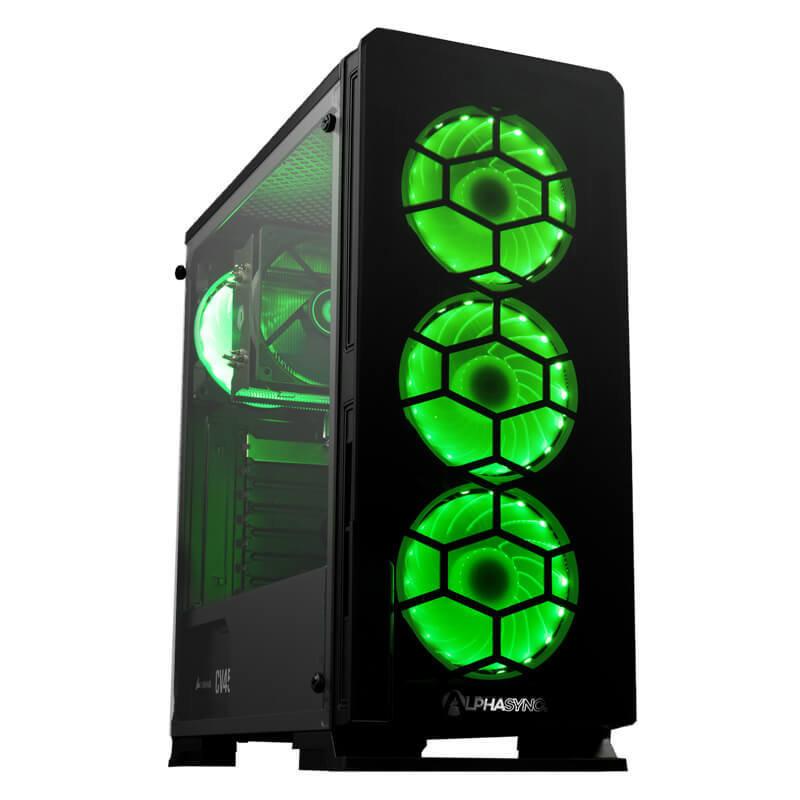 AlphaSync AMD Ryzen 5 8GB RAM 1TB HDD 240GB SSD Gaming Desktop PC