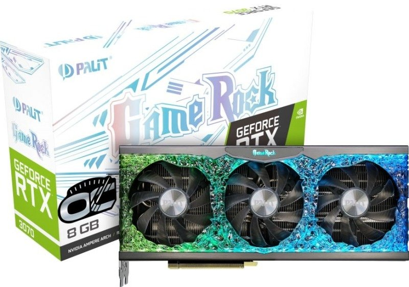 Palit GeForce RTX 3070 8GB GameRock OC Ampere Graphics Card