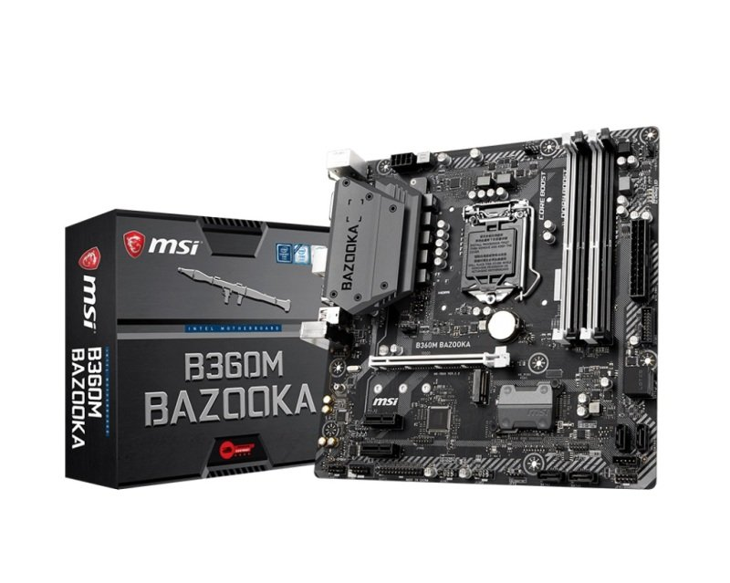 EXDISPLAY MSI B360M BAZOOKA DDR4 mATX Motherboard
