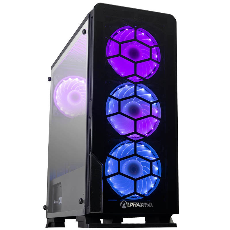 Image of AlphaSync Gaming Desktop PC, Intel Core i5-9400F 2.9GHz, 16GB DDR4, 2TB HDD, 240GB SSD, Nvidia GTX 1660 Super 6GB, Windows 10 Home