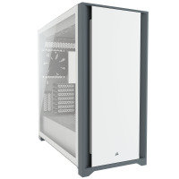 CORSAIR 5000D Mid-Tower ATX PC Case - Fits Multiple 360mm Radiators - Easy Cable Management - Two Included CORSAIR AirGuide Fans - White