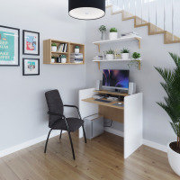 Bagan Home Office Workstation With Writing Shelf