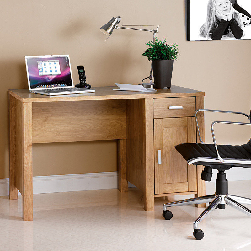 Amazon Home Office Workstation With Integrated Drawer And Cupboard Unit - Oak Effect
