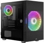 AEROCOOL ATOMIC-G-BK-V1 RGB TEMPERED GLASS MINI TOWER CASE - BLACK