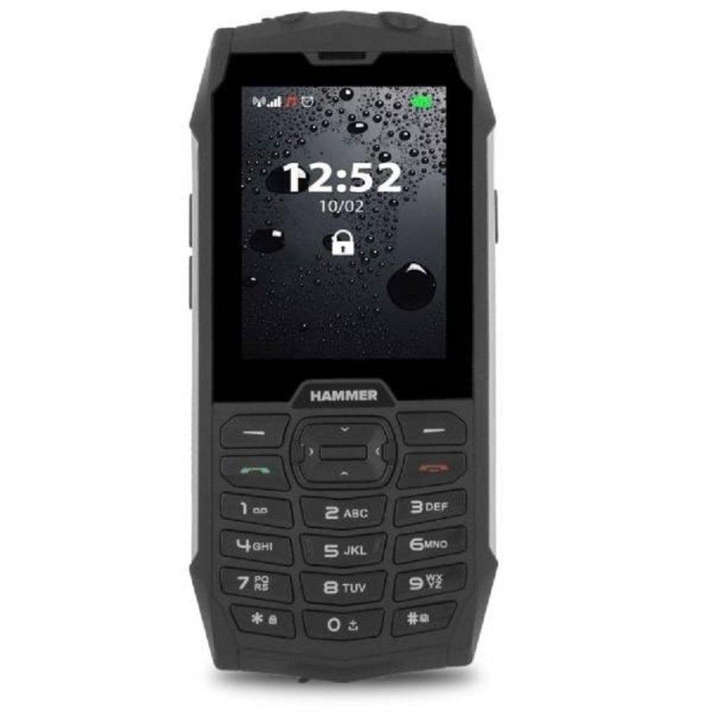Hammer 4 + TEL000484 2.8'' Dual SIM Mobile Phone - Black