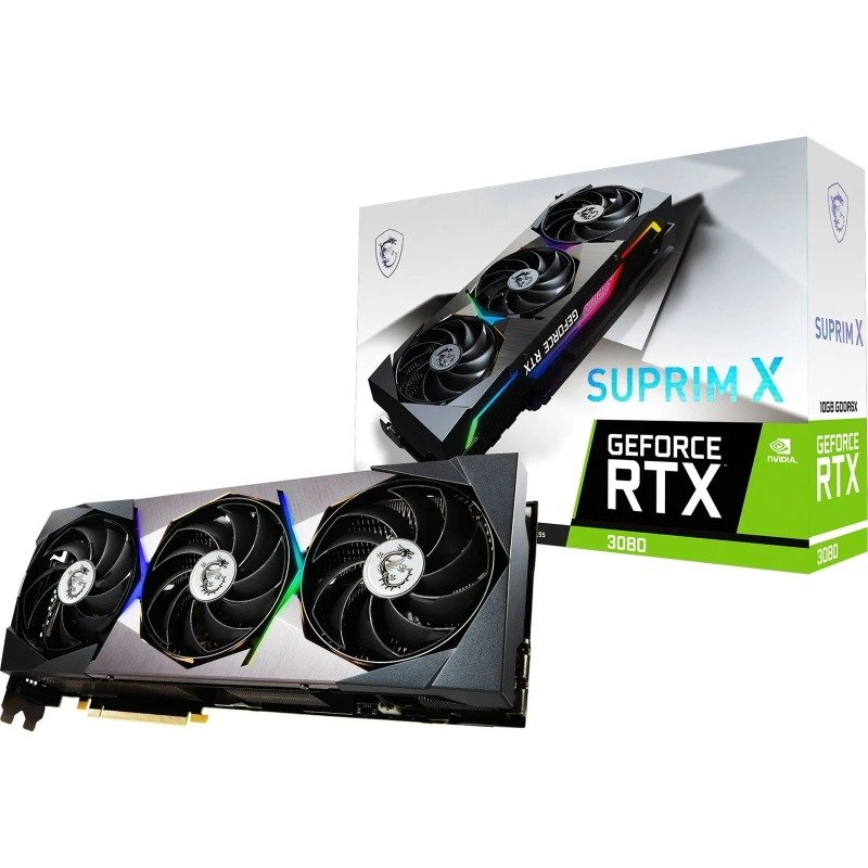 MSI GeForce RTX 3080 SUPRIM X 10GB Ampere Graphics Card