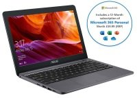 "Asus E203 Intel Celeron 4GB 64GB eMMC 11.6"" Win10 S Laptop - With 1 Year Microsoft 365 Personal"