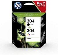 HP 304 Black & Tri-Colour Ink Cartridge Pack 3JB05AE