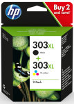 HP 303XL Black & Tri-Colour Ink Cartridges