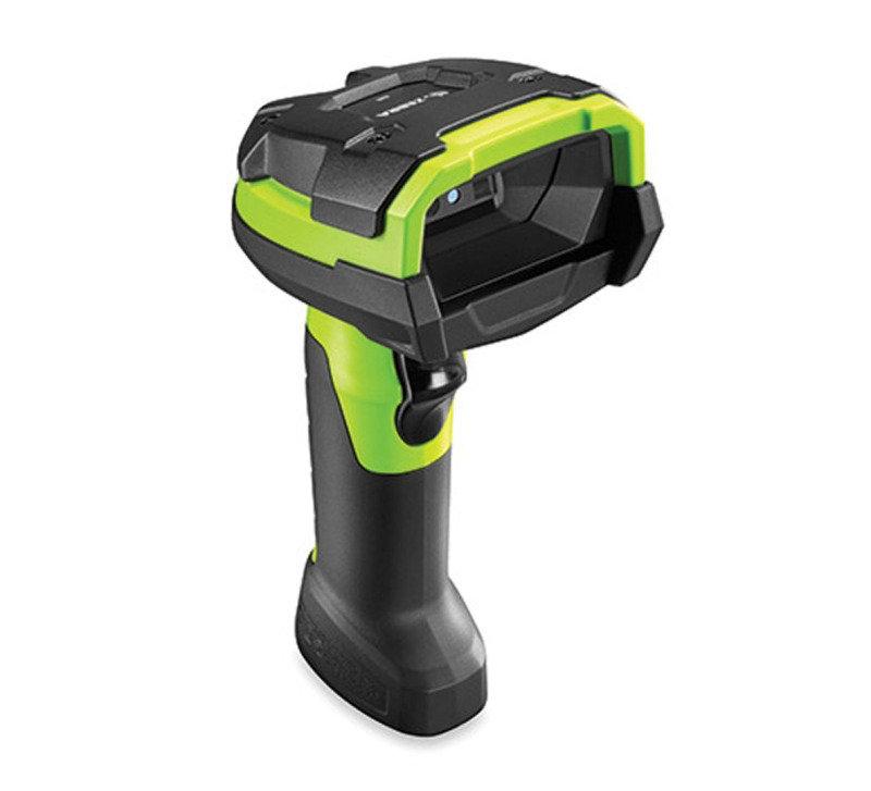Zebra DS3608-SR Handheld Barcode Scanner - Cable Connectivity - Industrial Green - 1D, 2D - Imager