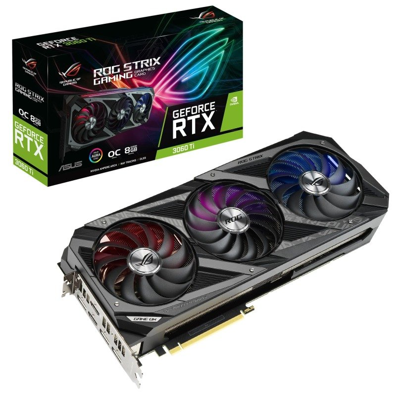 Asus GeForce RTX 3060 Ti 8GB ROG STRIX OC Ampere Graphics Card